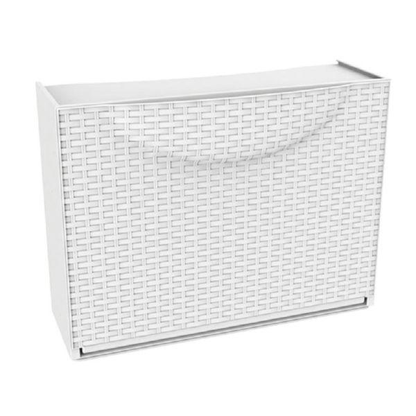 Zapatero polip.modular Harmony Rattan Blanco 1T. 51x19xh.39 cm.